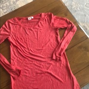 BP Heathered T-Shirt in a Coral Red Color